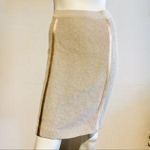 Escada Woven Knit Pencil Skirt